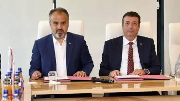 Bursa Büyükşehir Belediyesi  ve HOSAB arasında protokol imzalandı